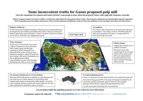 Some inconvenient truths for Gunns pulp mill